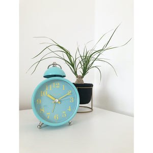 NeXtime - Alarm clock – Ø 16 cm - Metal – Turquoise – Loud Alarm-  'Single Bell'