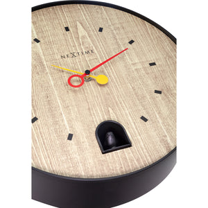 NeXtime - Wall clock - Ø 30 cm - ABS - Black - 'Nightingale Black'