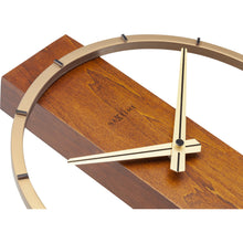 Load image into Gallery viewer, NeXtime- Table / Wall clock - 34 x 27 cm - Wood/Steel - Brown - 'Carl Small'