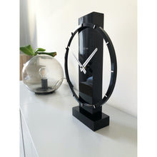 Load image into Gallery viewer, NeXtime- Table / Wall clock - 34 x 27 cm - Wood/Steel - Black - 'Carl Small'