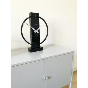 NeXtime- Table / Wall clock - 34 x 27 cm - Wood/Steel - Black - 'Carl Small'