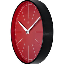 Load image into Gallery viewer, nXt - Wall clock - Ø 25 cm - Plastic - Red - 'Axel'