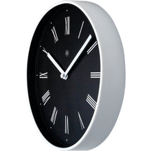 Load image into Gallery viewer, nXt - Wall clock - Ø 25 cm - Plastic - Black - 'Irving'