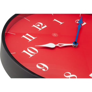 nXt - Wall clock - Ø 40 cm - Plastic - Red - 'Arthur'