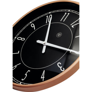 nXt - Wall clock - Ø 30 cm - Plastic - Black / Matt Rose - 'Jason'