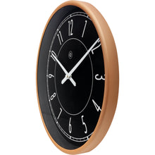 Load image into Gallery viewer, nXt - Wall clock - Ø 30 cm - Plastic - Black / Matt Rose - 'Jason'