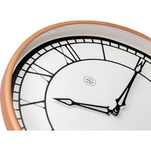 Load image into Gallery viewer, nXt - Wall clock - Ø 30 cm - Plastic - White / Matt Rose - 'Kyle'
