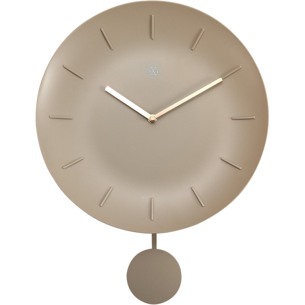 nXt - Wall clock - Ø 30 cm - Plastic - Off White - 'Bowl'