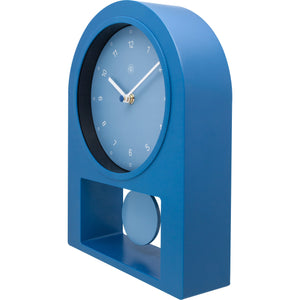 nXt - Table clock - 30 x 20 cm - Plastic - Petrol - 'Swing Table'