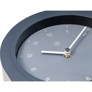 nXt - Table clock - 30 x 20 cm - Plastic - Grey - 'Swing Table'