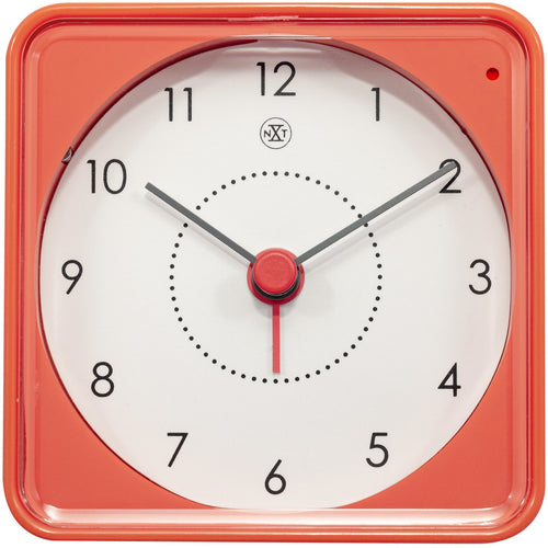 nXt - Alarm clock - 7.3 x 7.3 x 3.3 cm - Orange - 'Nathan'