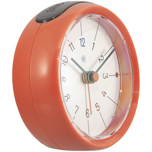 nXt - Alarm clock - Ø 9.5 x 3.8 cm - Orange - 'Otto'
