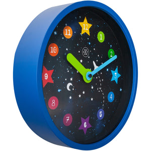 nXt- Wall clock - Ø 26 cm - Plastic - Black - 'Apollo'
