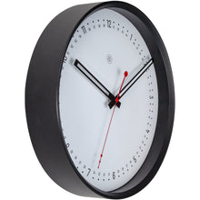 Load image into Gallery viewer, nXt- Wall clock - Ø 30 cm - Plastic - Black / White - 'Sweden'