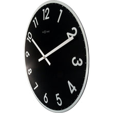 Load image into Gallery viewer, NeXtime - Wall clock - Ø 43 cm - Glass - Black - 'Reflect'