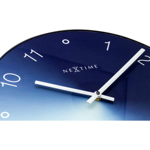 NeXtime - Wall clock - Ø 40 cm - Glass / Metal - Blue - 'Gradient'