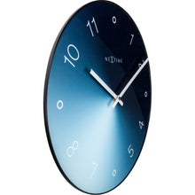 Load image into Gallery viewer, NeXtime - Wall clock - Ø 40 cm - Glass / Metal - Blue - 'Gradient'