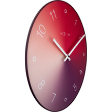 Load image into Gallery viewer, NeXtime - Wall clock - Ø 40 cm - Glass / Metal - Red - 'Gradient'