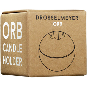 Drosselmeyer Orb Candle Holder in Black Cast Iron