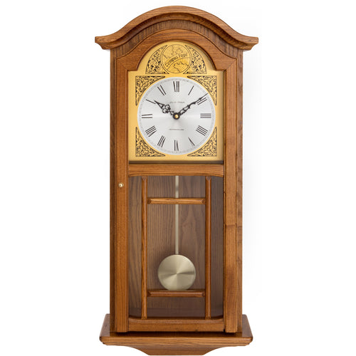 Kempston Oak Pendulum Clock
