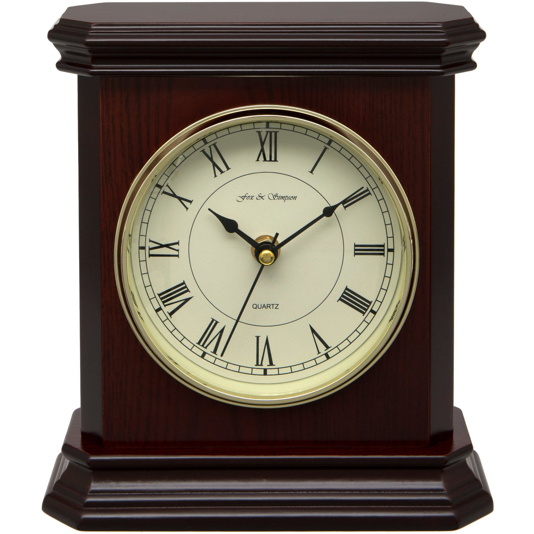 Mahogany Wood Mantel Clock
