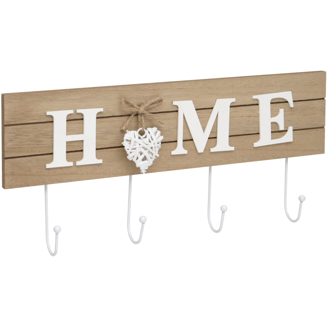 Maturi Woven Heart Shabby Chic Home Coat Hook