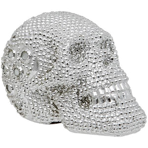 Silver Coloured Electroplated Skull