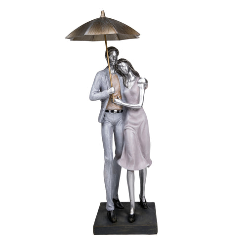 Couple in Embrace with Umbrella