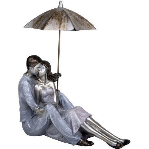 Couple Sitting with Umbrella