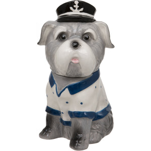 Sitting Sea Dog Ceramic Trinket