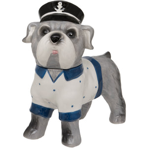 Standing Sea Dog Ceramic Trinket