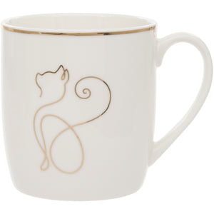 Cat Design Fine China Mug