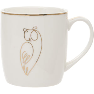 Owl Design Fine China Mug