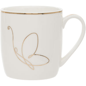Butterfly Design Fine China Mug