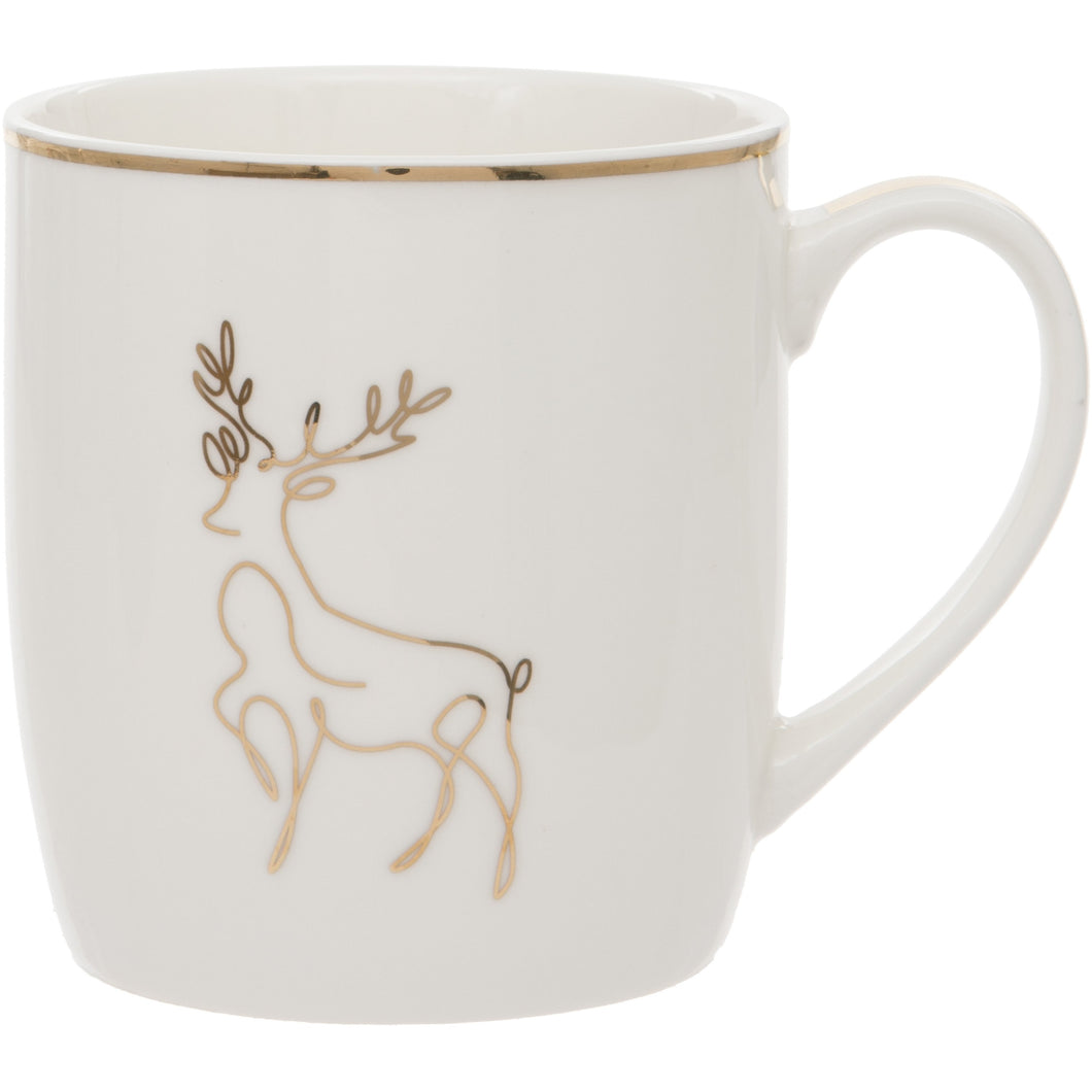 Deer Design Fine China Mug