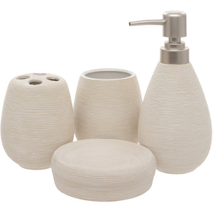 White 4 Piece Bathroom Accessory Set