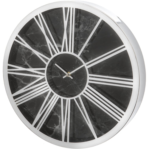Black Marble Effect 40cm Wall Clock