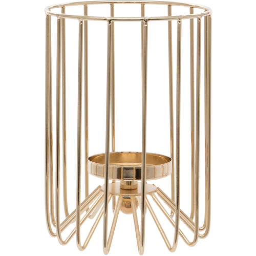 Large Gold Cylindrical Tealight Holder