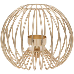 Round Gold Tealight Holder