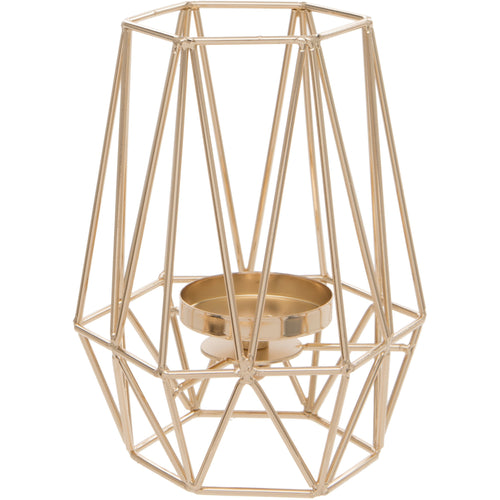 Gold Geometric Triangle Design Tealight Holder