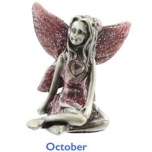 Pewter Birthstone Fairy - October