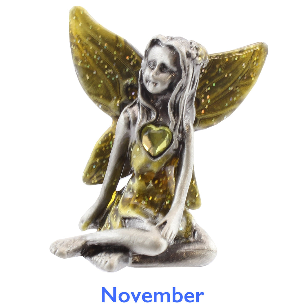 Pewter Birthstone Fairy - November