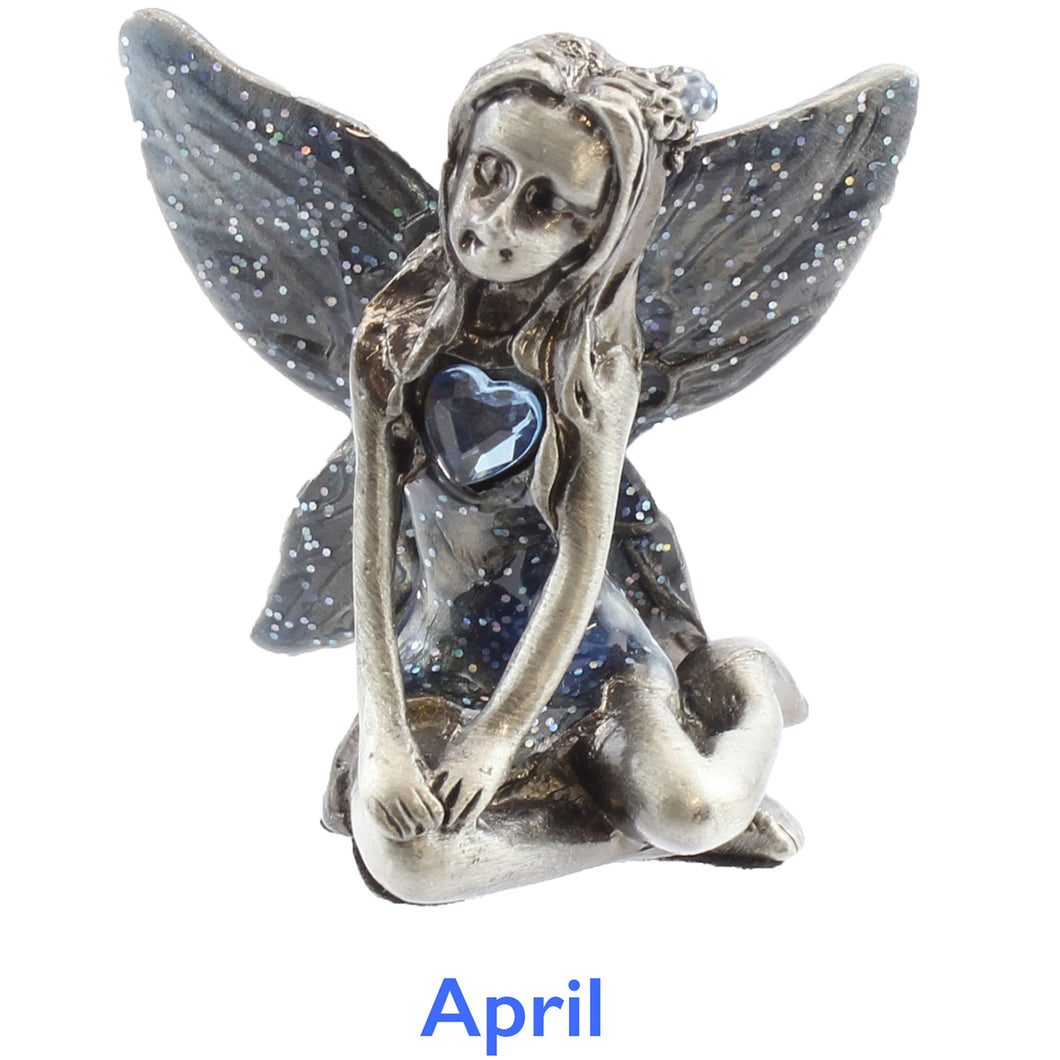 Pewter Birthstone Fairy - April