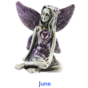 Pewter Birthstone Fairy - June