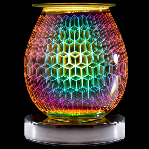 Desire Aroma Rhombus Wax and Oil Burner Touch Lamp