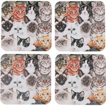 Load image into Gallery viewer, Cat Montage Coasters