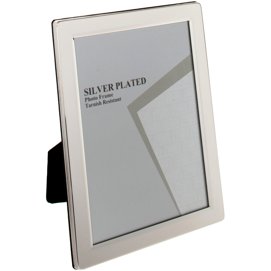 Silver Plated Flat Edge Photo Frame A4 Certificate