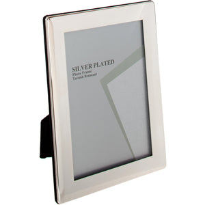Silver Plated Rounded Thin Edge Photo Frame 10 x 12 -inch