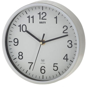 Radcliffe Silver Radio Controlled Wall Clock