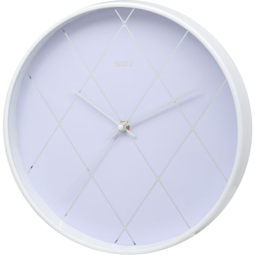 White Diamond Effect Wall Clock